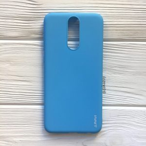 Матовый силиконовый TPU чехол на Huawei Mate 10 Lite (Голубой)