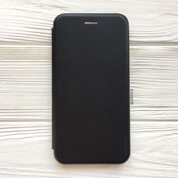 Черный кожаный чехол-книжка (экокожа+TPU) для Huawei Y5 (2018) / Y5 Prime (2018) / Honor 7A (Black)