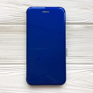 Cиний глянцевый чехол-книжка (TPU+PC) для Xiaomi Redmi 6 Pro / Mi A2 Lite (Navy Blue)