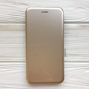 Глянцевый чехол-книжка TPU+PC для Samsung Galaxy J6 Plus 2018 (J610) (Gold)