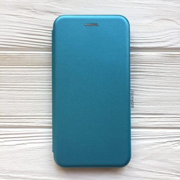 Голубой кожаный чехол-книжка (экокожа+TPU) для Huawei Y5 (2018) / Y5 Prime (2018) / Honor 7A (Blue)