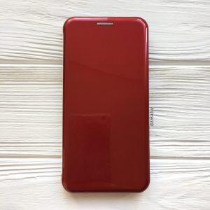 Глянцевый чехол-книжка (TPU+PC) для Huawei P Smart (2019) / Honor 10 Lite (Красный / Red)