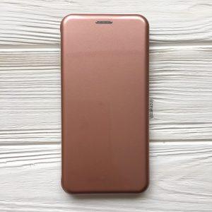 Глянцевый чехол-книжка TPU+PC для Samsung Galaxy J6 Plus 2018 (J610) ( Rose Gold)