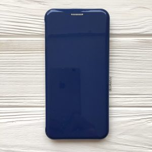Глянцевый чехол-книжка TPU+PC для Samsung Galaxy J6 Plus 2018 (J610) (Dark Blue)