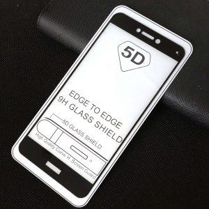 Защитное стекло 5D Full Glue Cover Glass на весь экран для Huawei P8 Lite 2017 – Black