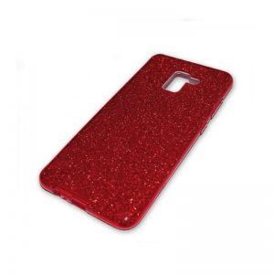 Силиконовый (TPU+PC) чехол Shine с блестками  для Samsung A530 Galaxy A8 2018 (Красный)
