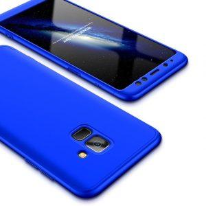Матовый пластиковый чехол GKK 360 градусов для Samsung Galaxy A6 2018 (A600) – Blue
