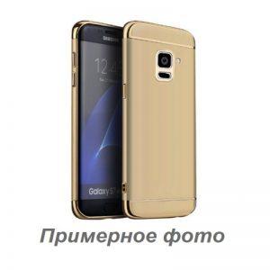 Матовый пластиковый чехол Joint Series для Samsung Galaxy A6 Plus 2018 (Gold)