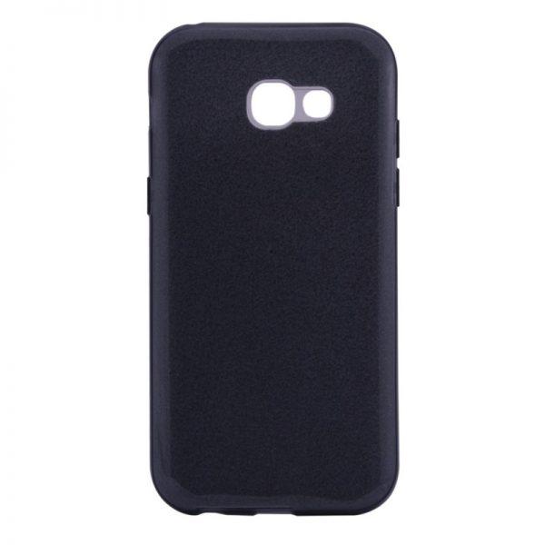 Силиконовый (TPU+PC) чехол с блестками Shine для Samsung Galaxy A7 2017 (A720) (Серый)