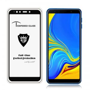 Защитное стекло 4D Full Glue (на весь экран) для Samsung A750 Galaxy A7 2018 (Black)