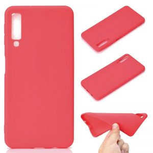 Матовый силиконовый TPU чехол Samsung A750 Galaxy A7 (2018) Red
