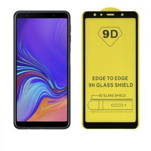 Защитное стекло 9D Full Glue Cover Glass на весь экран для Samsung Galaxy A7 2018 (A750) – Black