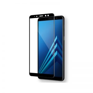 Защитное стекло 3D Full Glue (на весь экран) для Samsung A750 Galaxy A7 2018 (Black)