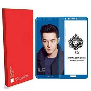 Защитное стекло 3D (5D) Perfect Glass Full Glue Lion на весь экран для Huawei Honor 9 Lite — Blue
