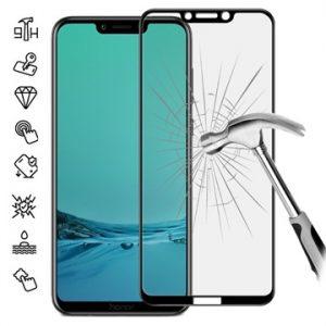 Защитное стекло 3D / 5D Full Glue (на весь экран) для Huawei Honor Play (Black)