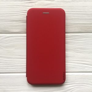 Красный чехол-книжка Inavi (экокожа + TPU) для Huawei P Smart Plus (Red)