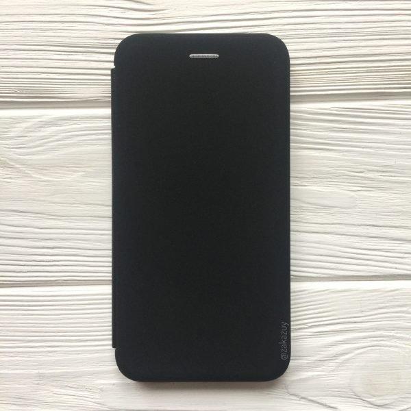Черный чехол-книжка Inavi (экокожа + TPU) для Meizu M6s (Black)