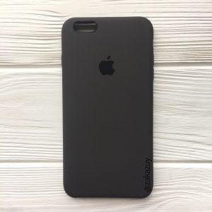 Оригинальный силиконовый чехол (Silicone case) для Iphone 6 / 6s (Dark Brown) №19