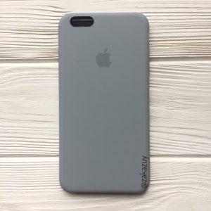 Оригинальный чехол Silicone Case с микрофиброй для Iphone 6 / 6s №33 (Light Blue)