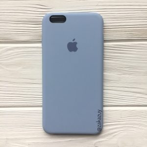 Оригинальный чехол Silicone Case с микрофиброй для Iphone 6 / 6s №15 (Lilac Cream)