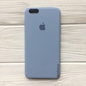 Оригинальный чехол Silicone Case с микрофиброй для Iphone 6 / 6s №15 (Lilac Cream)