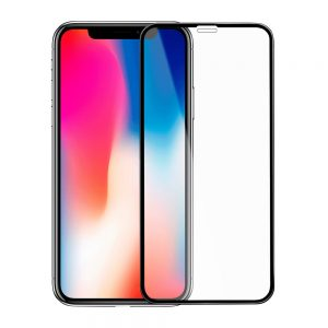 Защитное стекло 3D (5D) Full Glue Armor Glass на весь экран для Iphone X / XS / 11 Pro — Black