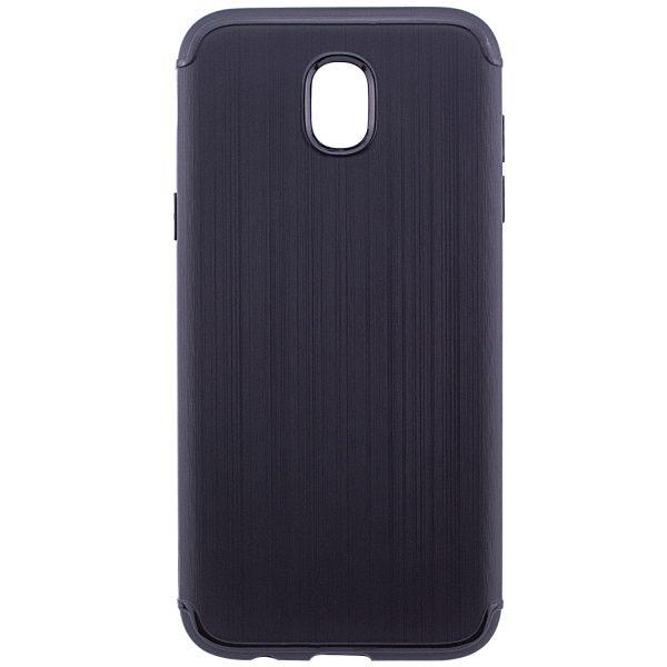 Cиликоновый (TPU) чехол Metal  для Samsung J330 Galaxy J3 2017 (Black)