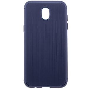 Cиликоновый (TPU) чехол Metal  для Samsung J330 Galaxy J3 2017 (Blue)