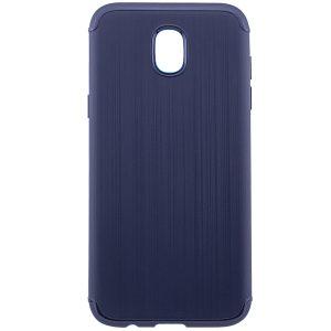 Силиконовый (TPU) чехол – бампер Metal для Samsung J330 Galaxy J3 (2017) Blue