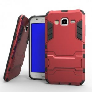 Ударопрочный чехолс подставкой Transformer для Samsung J500H Galaxy J5 (Red)