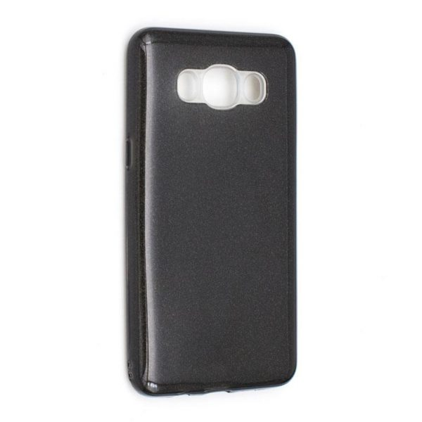 Силиконовый (TPU) чехол с блестками Shine для Samsung J510F Galaxy J5 (2016) Black