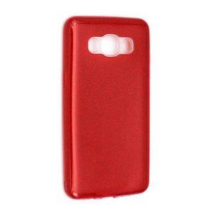 Силиконовый (TPU) чехол Shine с блестками для Samsung J510F Galaxy J5 2016 (Красный)