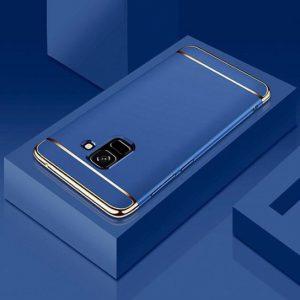 Матовый пластиковый чехол Joint Series  Samsung J600F Galaxy J6 2018 (Blue)