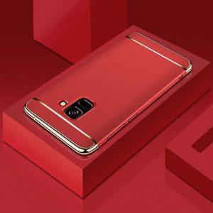 Матовый пластиковый чехол Joint Series Samsung J600F Galaxy J6 2018 (Red)