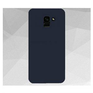Матовый силиконовый TPU чехол для Samsung Galaxy A6 2018 (A600) – Синий