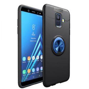 Cиликоновый чехол Deen ColorRing с креплением под магнитный держатель для Samsung J600F Galaxy J6 2018 (Blue)