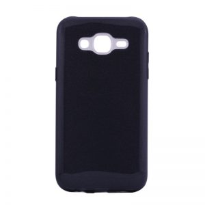 Силиконовый (TPU+PC) чехол Shine с блестками для Samsung J500 Galaxy J5 2015 (Черный)