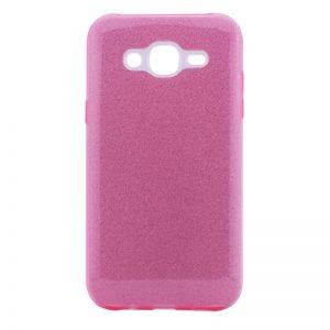 Розовый силиконовый (TPU) чехол (накладка) с блестками Shine для Samsung J700H / J701 Galaxy J7 (2015) / J7 Neo (Pink)