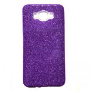 Фиолетовый силиконовый (TPU) чехол (накладка) с блестками Shine для Samsung J700H / J701 Galaxy J7 (2015) / J7 Neo (Violet)