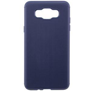 Cиликоновый (TPU) чехол Metal  для Samsung J710F Galaxy J7 2016 (Navy Blue)