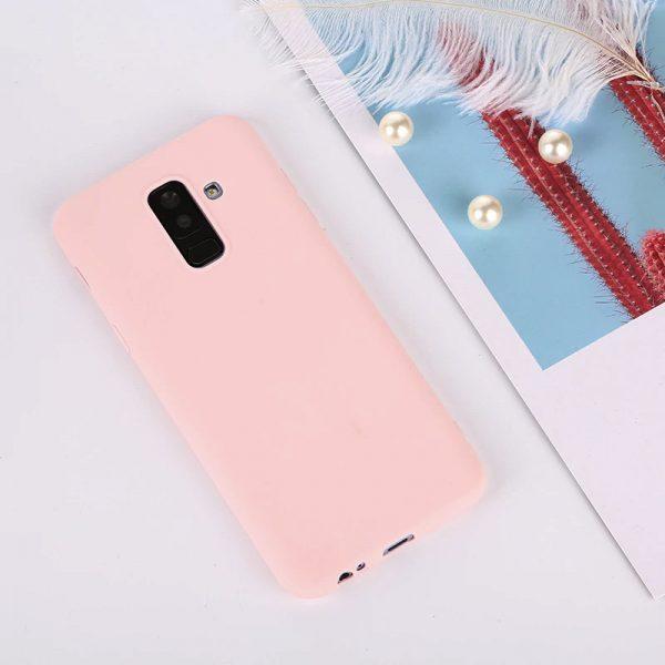 Матовый силиконовый TPU чехол для Samsung Galaxy A6 Plus 2018 (A605) – Розовый