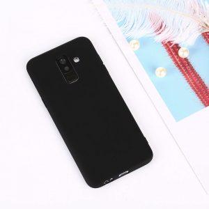 Матовый TPU чехол для Samsung J810 Galaxy J8 (2018) Black