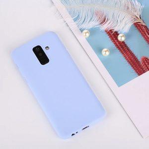 Матовый TPU чехол для Samsung J810 Galaxy J8 (2018) Blue