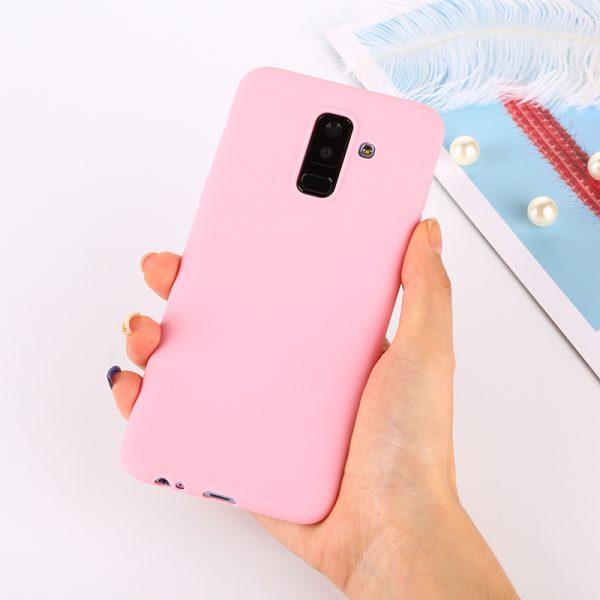 Матовый силиконовый (TPU) чехол для Samsung Galaxy J8 2018 (J810) – Pink