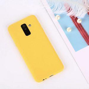 Матовый TPU чехол для Samsung J810 Galaxy J8 (2018) Yellow