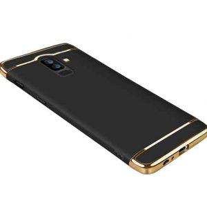 Матовый пластиковый чехол Joint Series Samsung Galaxy J8 2018 (Black)
