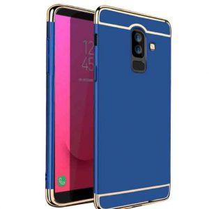 Матовый пластиковый чехол Joint Series Samsung Galaxy J8 2018 (Blue)