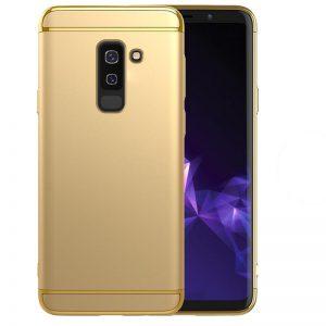 Матовый пластиковый чехол Joint Series для Samsung Galaxy J8 2018 (Gold)