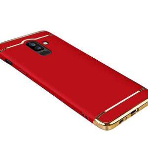 Матовый пластиковый чехол Joint Series Samsung Galaxy J8 2018 (Red)