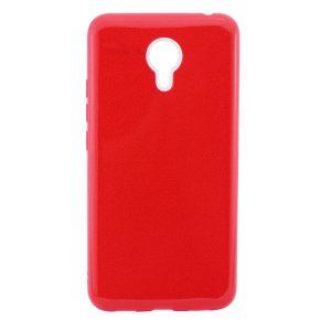 Силиконовый TPU чехол Shine с блестками для Meizu M3 Note (Красный)